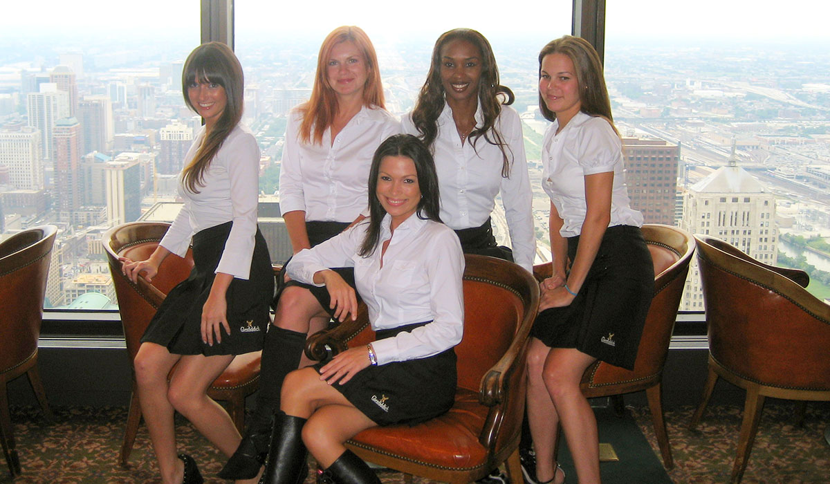 Photo of ENVE Models at their first event in 2007.