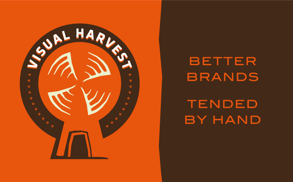 Illustration of Visual Harvest's logo and tagline